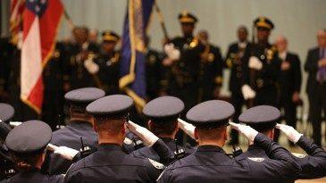 Police saluting